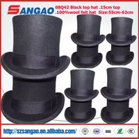 Wholesale felt hats kids resale online - wool felt hat top hat fedora hat style for women or men or kids fashion