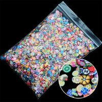 Wholesale nails acrylic designs for sale - Group buy 1000pcs pack Nail Art Fruit Flowers Feather DIY Design Fimo Cane Slices Decoration Acrylic Beauty Polymer Clay Nail Sticker Tool