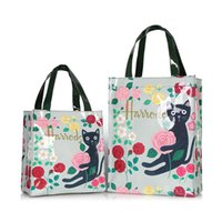 Wholesale handbag style lunch bags for sale - Group buy London style PVC reusable high capacity shopping bag lady s bag eco friendly floral waterproof handbag lunch tote b