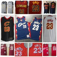 Wholesale cleveland cavaliers resale online - LeBron James Cleveland Cavaliers Men Mitchell Ness Hardwood Classics Basketball Jersey