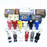 Wholesale 3d silicone keychain resale online - KAWS Doll BFF Keychain Stereo d Skull Pendant Brian Street Art Action Figure Limited Version Collection Model Toy Gift Straps New Bag Charm
