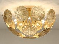 Wholesale chinese g9 resale online - led lights chandelier lighting indoor lighting Creative light lotus leaf new Chinese ceiling light hotel guest bedroom chandelier MYY