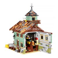In Stock 16050 Ideas Movie Series The Old Fishing Store Beach Resort House Building Block Bricks Toys Gift for Children 21310