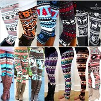 Wholesale maternity leggings for sale - Group buy Winter Christmas Snowflake Knitted Leggings Xmas Warm Stockings Pants Stretch Tights Women Bootcut Stretchy Pants Maternity Bottoms M2401