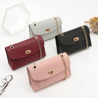 Wholesale crossbow bags resale online - Korean style cover bow lock single shoulder chain square Butterfly small square bag Summer new product crossbow small bag