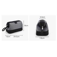 Wholesale shaving bags for sale - Group buy Portable Men Cosmetic Bag Business Travel Waterproof Leather Large Capacity Shaving Makeup Bag
