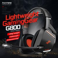 Wholesale ps4 gaming headsets resale online - PLEXTONE G800 Gaming Headset Headphones Over Ear Lightweight headsets with mic for PS4 PC Mobile Phone Headsets Gamer Earphone