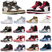 Wholesale army color sports shoes for sale - Group buy JUMPMAN High OG Bred Chicago Multi Color Grey Black Red Orbit Court Purple Pink Corduroy Womens Mens Basketball Shoes Sports With Box