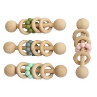 Wholesale babies pacifiers for sale - Group buy INS new Baby Pacifier Holders Newborn Pacifier Clips Prevent falling Infant Wooden Clips For Baby Feeding