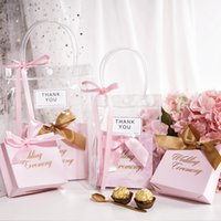 Wholesale bags for baby designer resale online - 1pcs Wedding Party Decoration Favors Candy Gift Bag Packing For Guests Baby Shower Birthday Party Decor Packaging Bags Gift Bag