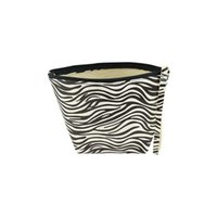 Wholesale zebra bags for sale - Group buy Bag Black Zebra Stripe PU Silver Flower Leather Cosmetic Storage Bag Travel Cosmetic Girl Cosmetic Simple Storage Bag