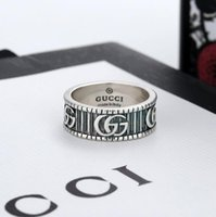 Wholesale ring black resale online - Fashion sterling silver skull rings moissanite anelli bague for mens and women Party Wedding engagement jewelry lovers gift with box