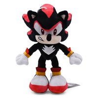Wholesale plush sonic toys for sale - Group buy 27cm Black Sonic Plush Toys Soft Stuffed Dolls Baby Peluche Toys Gift For Kids Christmas Y200723