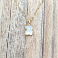 Wholesale pearl mother for sale - Group buy Authentic Sterling Silver pendants Gold And Mother Of Pearl Xxs Bear Necklace Fits European bear Jewelry Style Gift