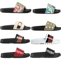 Wholesale slipper men for sale - Group buy 2020 Designer Men Women Sandals with Correct Flower Box Dust Bag Shoes snake print Slide Summer Wide Flat Sandals Slipper