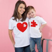 Wholesale mom daughter son shirt resale online - 1pcs I Love Mom Mommy and Me Outfit Mother Daughter Son Gift Unisex T shirt Family Matching Tee Valentine s Day Cute Tshirts