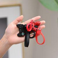 Wholesale cartoon video game controller for sale - Group buy Designer PVC Cartoon Video Game Controller Keyring Key Chains Boyfriend Joystick Handle Gamepad Keychain Perfect Gift
