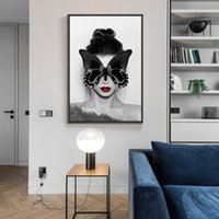 Wholesale nude art oil paintings resale online - Modern Fashion Wall Art Portrait Poster Prints Nordic Home Decoration Nude Art Beauty Figure Canvas Oil Painting Wall Pictures for Bedroom