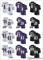 Wholesale 83 jersey resale online - Men Women Baltimore Ravens Youth Ed Reed Lamar Jackson Matt Judon Willie Snead IV Football Jerseys Black