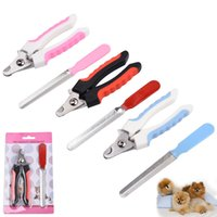 Wholesale guard dogs for sale - Group buy Pet Cat Dog Nail Clippers and Trimmer with Safety Guard to Avoid Over Cutting Nail File Grooming Razor JK2007XB