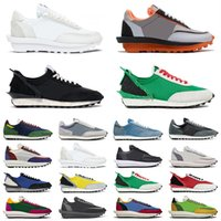 sacai achat en gros de-2020 LDV X Waffle Daybreak Trainers Mens Casual Shoes White Nylon Summit White Pine Green For Women men outdoor Sports Sneakers