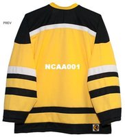 Wholesale yellow black football jersey full sleeve for sale - Group buy Vintage Men Vintage real Full embroidery Cincinnati Stingers black yellow Embroidery Hockey Jersey or custom any name or number Jersey
