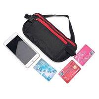 Wholesale passport belt pouch resale online - Unisex Slim Waist Bags Travel Sport Money Belt Hidden Wallet Pouch Passport Security Pocket Anti Theft Chest Pack Fanny Bag