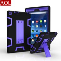 Wholesale kindle for sale - Group buy Shockproof Protector Case in1 Robot Defender Robot Hybrid PC Silicon Kickstand Stand Case For Kindle Fire HD7 HD8
