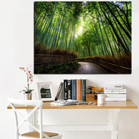Wholesale painting bamboo walls for sale - Group buy HD Print Picture Wall Art Framework Piece Kyoto Japan Bamboo Forest Mountain Paths Painting Home Decor Landscape Canvas Poster