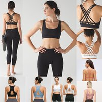 Wholesale woman s sports tank resale online - 2020 LU Womens Designer Sports Camisoles Bra Top Quality Yoga Stylist Lingeries Set Woman Underwears Gym Vest Workout Bra Clothes Tank