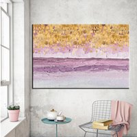 Wholesale dancing art oil painting for sale - Group buy Abstract Painting Large Size Canvas Oil Painting Dance Star Yellow Art Wall Pictures for Living Room Posters And Prints Cuadros
