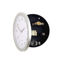 Wholesale circles clock for sale - Group buy Circle Hidden Storage Case Wall Clock White Watch Clocks Safe Box Hanging Container Hide Bell Conceal Hotel Decoration hl C2