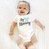 Wholesale love child baby clothes resale online - Love Newborn Baby Boy Girl Clothes Body Short Sleeve Mommy Letters Romper Jumpsuit Outfit M Summer Clothing For Children