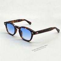 Wholesale johnny depp glasses resale online - Johnny Depp original lemtosh retro men and women acetate oval new fashion sunglasses with dyed lens