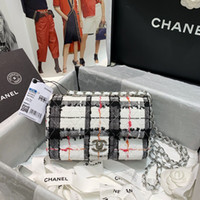 Wholesale bag eyes resale online - 7A high end custom quality classic lady cross body bag mini cover bag tweed and silver metal together very eye catching