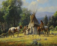 Wholesale d pictures for sale - Group buy Have A Teepee Home Decor Handcrafts HD Print Oil Painting On Canvas Wall Art Canvas Pictures
