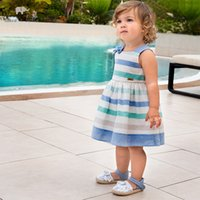 Wholesale davebella baby clothes for sale - Group buy DBS12721 dave bella summer baby girl s princess bow striped dress children fashion party dress kids infant lolita clothes T200709