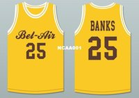 Wholesale yellow american football jerseys resale online - Vintage Men Carlton Banks Bel Air Academy Deluxe Yellow BLUE College jersey Size S XL or custom any name or number