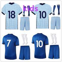 Wholesale highs soccer sock resale online - kids kit sock soccer club New Arrived child Soccer Jersey set uniforms high quality football shirt