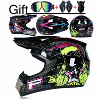 ingrosso kid motorcycle-Professionale DOT Motor Off Road del casco casco del motociclo in discesa Motocross Casque Moto 3 Omaggio Adatto Kid bWt3 #