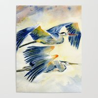Wholesale three picture frame resale online - Three Bird Fly Blue Sky Animal Gift Print Canvas Home Decor Wall Art Painting Modular Poster HD Modern Picture Living Room Frame