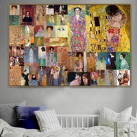 Wholesale prints artists for sale - Group buy Modular Pictures Home Decor Gustav Klimt Old Famous Master Artist Judith Canvas Paintings Wall Art Modern Living Room HD Printed