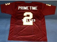 Wholesale deion sanders florida state jersey for sale - Group buy Men SEMINOLES FLORIDA STATE DEION SANDERS Wine Red College Jersey size s XL or custom any name or number jersey
