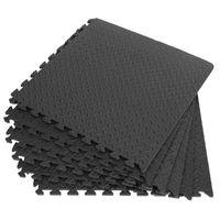 12PCS 30*30cm EVA Leaf Grain Floor Mats Gym Floor Mat Splicing Mats Patchwork Rugs Thicken For Gym Fitness Room Workouts