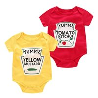 Wholesale summer vegetables resale online - Baby Rompers Twins Boys Girls Rompers Cute Vegetable Print Romper for Newborns Cotton Baby Costume Casual Clothes
