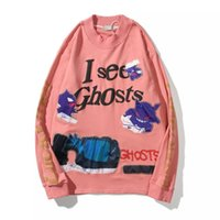 Wholesale kids embroidered t shirts for sale - Group buy Kanye Lucky Me KIDS SEE GHOSTS Kanye Heavy Craft Hidden Embroidered Long Sleeve T Shirt Trendy Terry Style M XXL