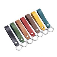 Wholesale cell u phone online – Car car key ring female key chain small genuine leather hanging chain accessories U disk hanging rope Accessories gift U disk gift