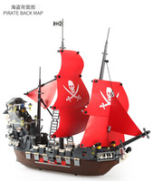 Wholesale toys for boys resale online - Blackbeard model Pirate Ship Block ship Child Intelligence assembly toy for both boy and girl