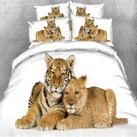 Wholesale 3d bedding set for kids resale online - 3D Tiger Bed Duvet Cover Set Pillowcase Kids Bed Cover Set Twin Full King Size Quilt set Bedding for Home Textile