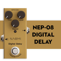 NAOMI True Bypass Design Digital Delay Electric Guitar Effect Pedal Mini Single Delay Pedal True Bypass DC 9V